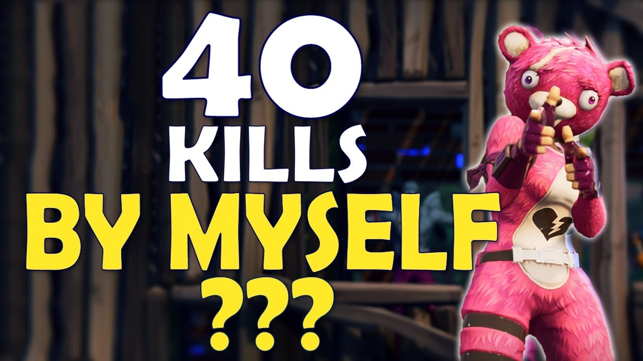 40 Kills Alone World Record Most Kills Ever In Fortnite His